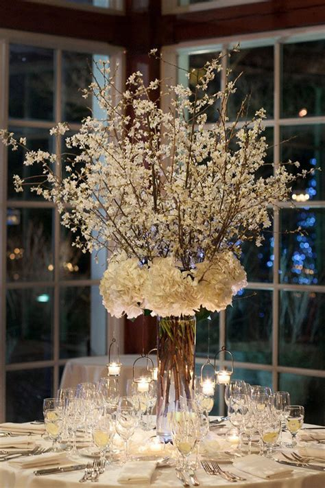 20 centerpieces for winter wedding ideas oh best day - Winter Wedding Reception Centerpiece Ideas