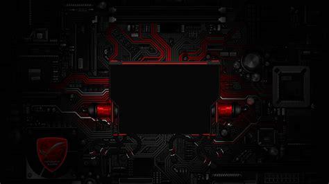 asus logon wallpaper digital circuits rog special edition red logon screen