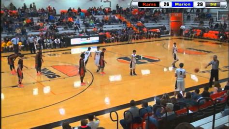 rams basketball mt vernon rams basketball vs marion wildcats 2015
