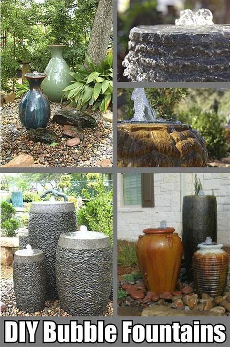 bubble fountain   poteasy diy water feature
