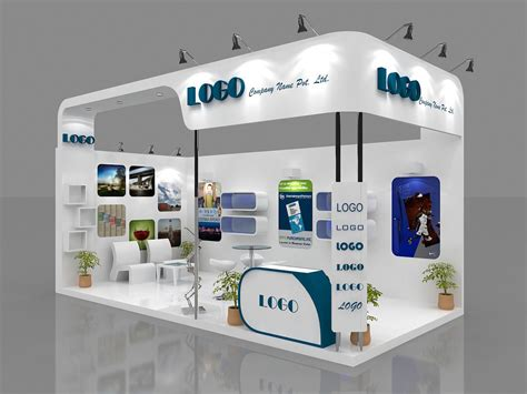 Booth 3 In 1 by Exhibition Booth 6 Mtr X 3 Mtr 2 Sides Open Proarch3d