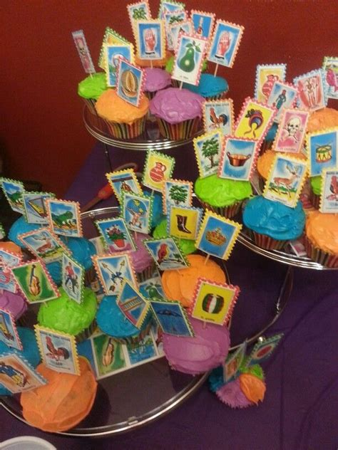 themes of lottery rose loteria cupcakes graduation cake pinterest mexican