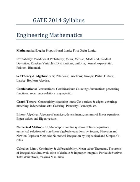 gate exam pattern mechanical engineering download gate syllabus for chemical engineering 2014 world