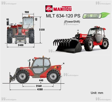 120ps Direct Injection manitou mlt 634 120 ps stage3b telehandler manitou machine guide machinery