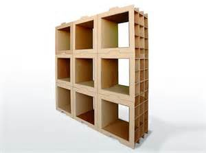 cardboard bookshelves danny gilles designs recycled cardboard shelving system