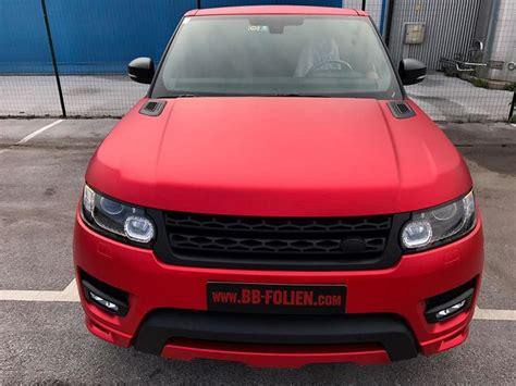 Folie Matt Chrom Rot by Range Rover Sport Chrom Rot Matt Schwarz Folierung Tuning
