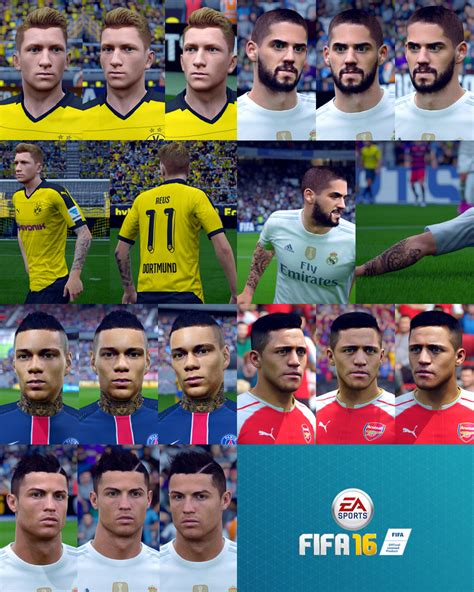 fifa 16 face pack 2 by wichanwoo fifa patch