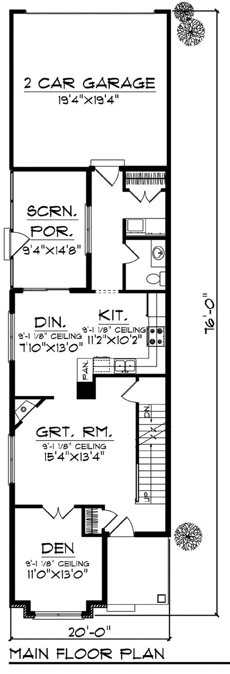 narrow lot house plans craftsman house plan 72921 at familyhomeplans