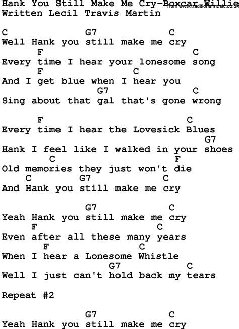 10 That Make Me Cry by Country Hank You Still Make Me Cry Boxcar Willie
