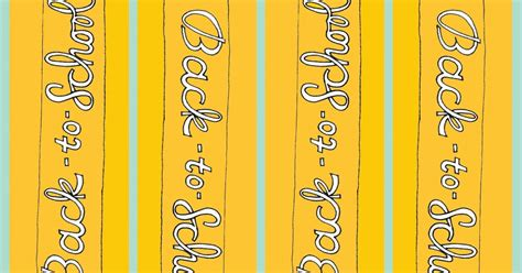 printable pencil bookmarks rhi creations back to school bookmark freebie