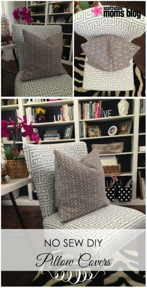 how to make no sew pillow covers