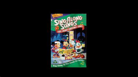 digitized opening  disneys singalong songs  merry christmas songs vhs uk youtube