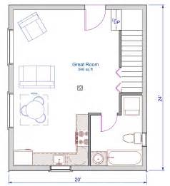 floor plan 24x20 sqft cottage a