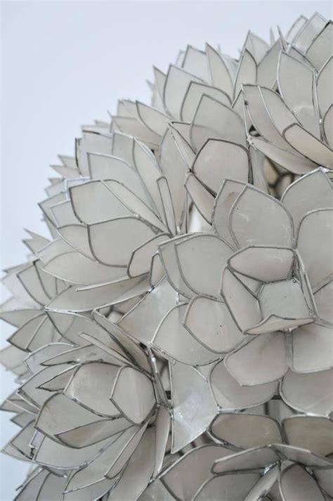 vintage capiz shell flower floor l at 1stdibs