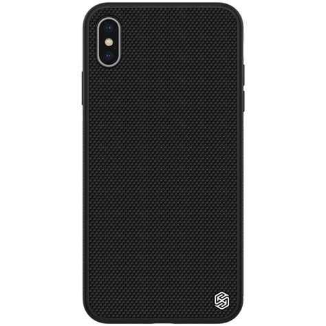 nillkin fiber 3d textured tpu for iphone xs max black alexnld