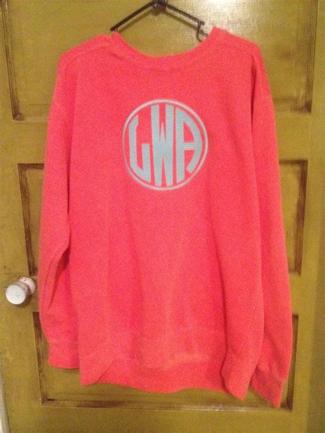 Monogrammed Comfort Colors Sweatshirt by Monogrammed Comfort Colors Sweatshirts