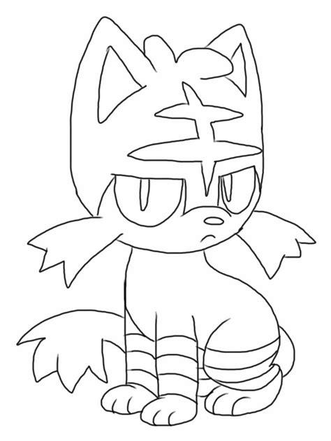 Free Litten Pokemon coloring page - Downloadable / full