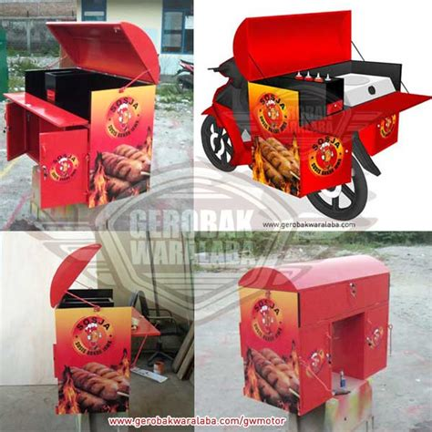 gerobak motor sosis bakar jasa gerobak bandung desain