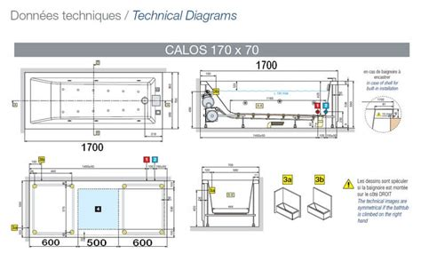 Contenance Baignoire Standard by Baignoire Rectangulaire Calos Novellini 180 X 80