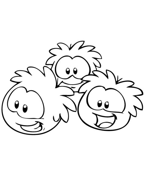 3 puffles coloring page h m coloring pages