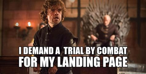 Memes Landing - unbounce tyrian game of thrones meme landing page reviews