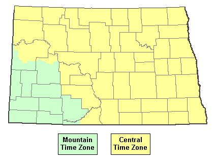 current time in north dakota