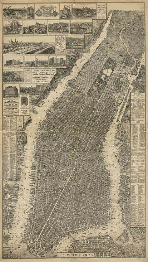 map of new york city framed the streets of new york