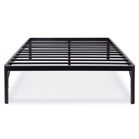 round platform bed frame twin size 18 inch high rise round edge metal platform bed
