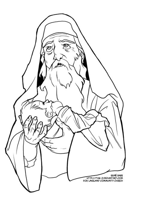 coloring page zechariah at the temple eagle nest alphabet advent t is for taxes