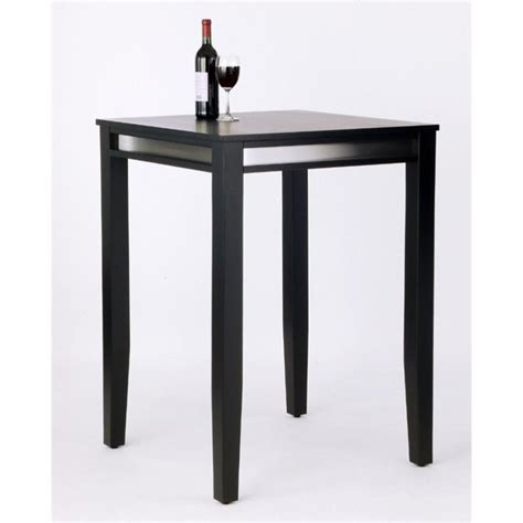 Black Bar Table Manhattan Solid Wood Bar Height Pub Table In Black 5123 35