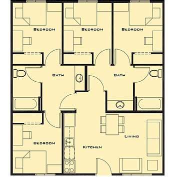 Small 4 Bedroom House Plans Free Home Future Students Free House Plans One Bedroom