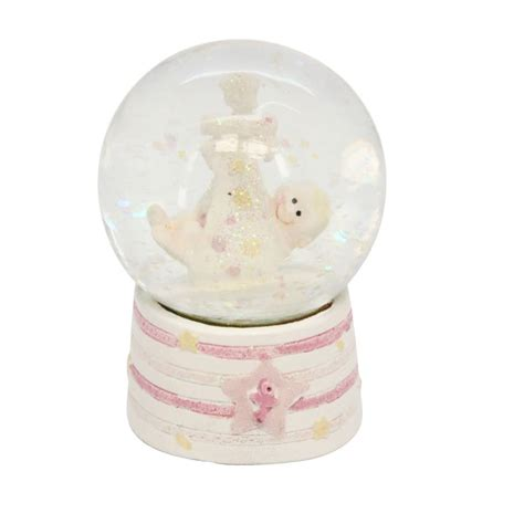baby girl snow globe by the contemporary home