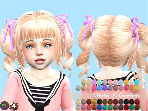 sims 4 hairs kalewa a toddlers hair pack my sims 4 blog clothing hair and accessories for