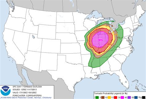map of tornadoes today severe weather outbreak likely for ohio river valley