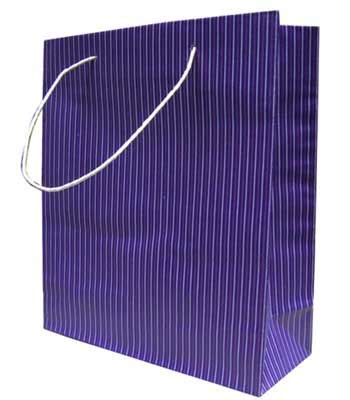 Tas Rajut Kotak Garis tas belanja 2 garis ungu tas kertas jakarta