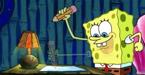 spongebob writing paper spongebob essay writing squarepants procrastination