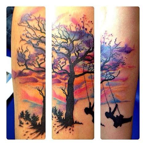watercolor tree of life tattoo 35 tree of tattoos on forearm