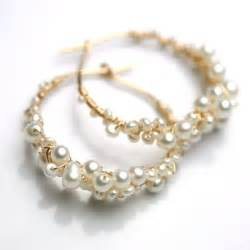 pearl earing likes shopping etsy finds of the day pearl hoop earrings