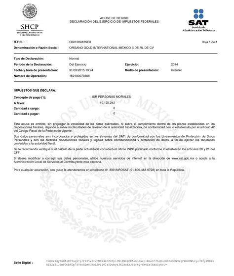01 acuse de recibo de la declaracin acuse dec anual ogi100412se0 1 2014 by janet rios issuu
