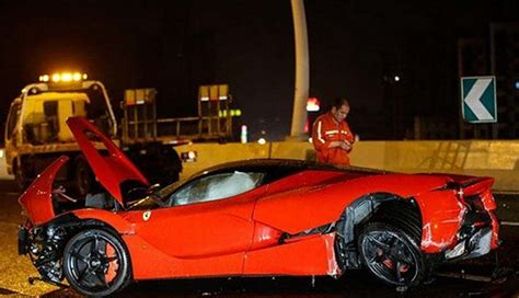 laferrari crash one more laferrari crashes this in