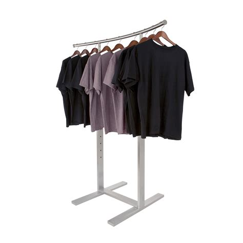 Clothes Rack by Retail Clothes Rack With Curved Rail Subastral