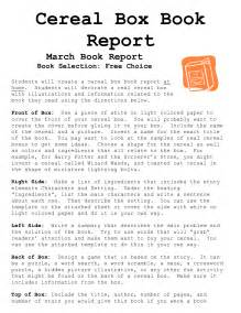 Cereal Box Book Report Template Download cereal box book report template best templates