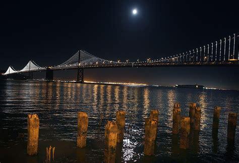 Bay Bridge Light Show by Bay Bridge Light Show Will Go On Houston Chronicle