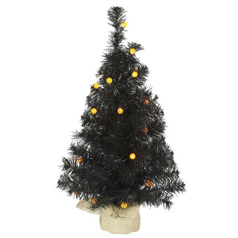 vickerman 24 quot prelit black pine artificial christmas tree