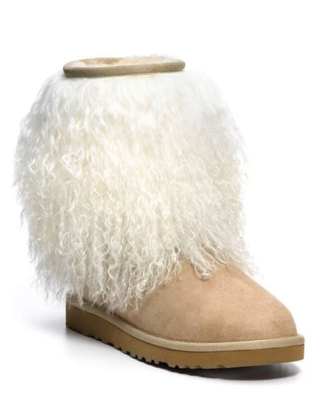 fur ugg boots uggs with fur on outside