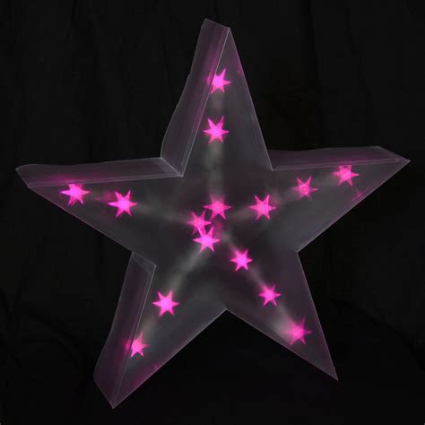 star shower christmas lights battery battery operated indoor 40cm 3d pvc with pink led lights decor ebay