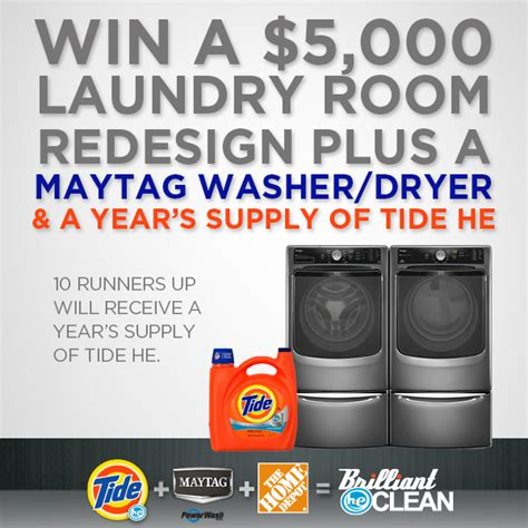 Home Depot 5000 Sweepstakes - tide maytag laundry room redesign sweepstakes and 50 home depot gift card giveaway