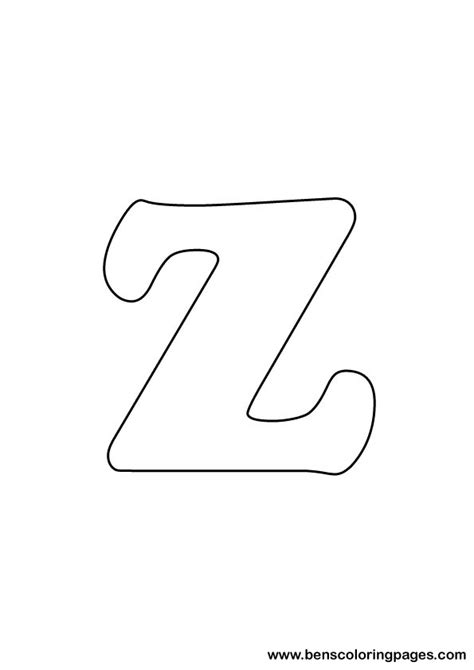 Letter Z Drawing free letter z coloring page