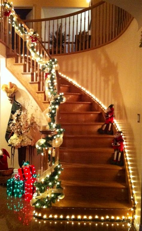 christmas lights for stair banisters 282 best christmas windows walls stairs decor images