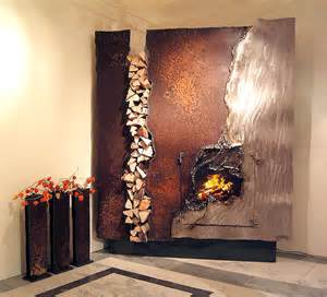 unique fireplace mantels fireplace mantels and sculptures from metal artist gahr